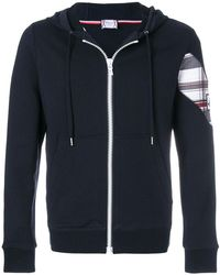 Moncler - Patch Embellished Zip-up Hoodie - Lyst