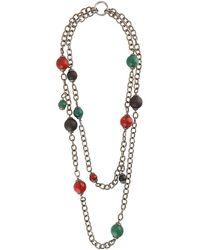 DSquared² Multi-strand Beaded Necklace - Metallic