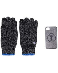 Juicy Couture Glittered Gloves And Iphone 4 Case - Black