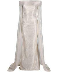 Talbot Runhof Bortolo Dress - Natural