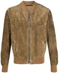 Tom Ford Suede Bomber Jacket - Brown