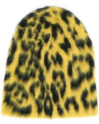 Laneus Animal Pattern Beanie - Yellow