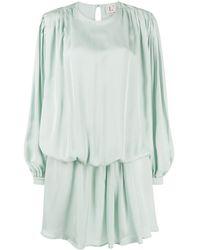 L'Autre Chose - Robe courte asymétrique à effet drapé - Lyst