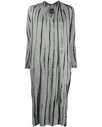 Suzusan ストライプ ニットドレス - グレー