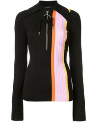Ellery ボーダー ポロシャツ - ブラック