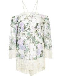 Alice McCALL Le Fleur floral-print playsuit - Blanc