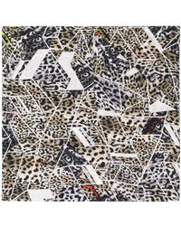 Preen By Thornton Bregazzi Leopard Print Geometric Scarf - Multicolour