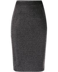 Liu Jo Glitter Pencil Skirt - Grey