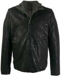 Transit High-neck Zipped Jacket - Black