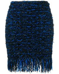 Balmain ツイード ミニスカート - ブラック