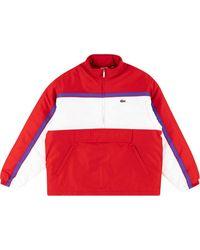 Supreme Jersey acolchado de x Lacoste - Rojo