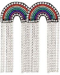 Venessa Arizaga Multicoloured Rainbow Crystal And Rhinestone Earrings - Blue
