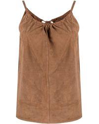 DESA NINETEENSEVENTYTWO Tie-fastened Suede Cami - Brown