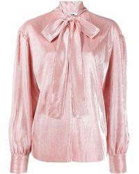MSGM Блузка С Бантом - Розовый