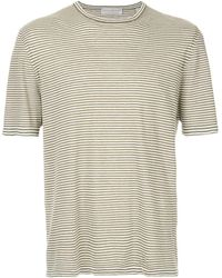 Gieves & Hawkes ボーダー Tシャツ - グリーン