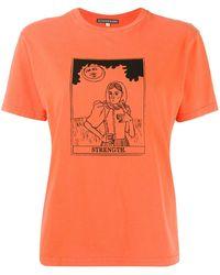 ALEXACHUNG Strength Tシャツ - オレンジ