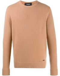 DSquared² Crew Neck Jumper - Brown