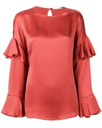 L'Autre Chose - Flutter Sleeve Detailed Blouse - Lyst