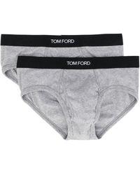 Tom Ford ロゴ ブリーフ セット - グレー