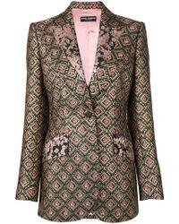 8fd0390091c4b1 Lyst - Dolce   Gabbana Pinstripe Print Blazer in Black