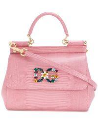 Lyst - Dolce   Gabbana Jewelled Sicily Bag in Gray 6c9df257058ca