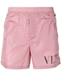 b4a585b978 Lyst - Valentino Beaded Side Stripe Track Shorts in Green for Men