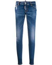 DSquared² Jeans mit schmalem Schnitt - Blau