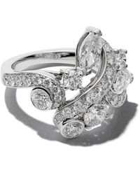 De Beers - 18kt White Gold Adonis Rose Cluster Diamond Ring - Lyst