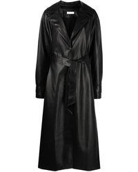 Jonathan Simkhai Paulette Faux-leather Trench Coat - Black
