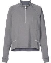 Siki Im Zipped Neck Sweatshirt - Grey