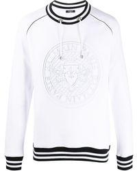 Balmain Medallion スウェットシャツ - ホワイト