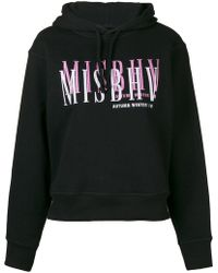 MISBHV Logo embroidered hoodie - Noir