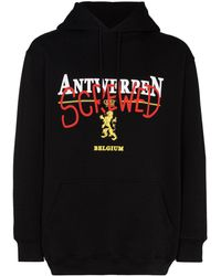 Vetements Antwerp Screwed パーカー - ブラック
