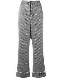 Equipment X Kate Moss 'avery' Star Print Silk Pyjama Trousers - Multicolour