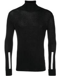 Neil Barrett - Stripe Detail Turtleneck Sweater - Lyst