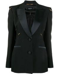 Versace Однобортный Блейзер - Черный