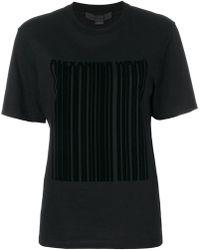 Alexander Wang Barcode Logo Printed T-shirt - Black
