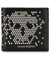 Alexander McQueen - スタッズ スカル 二つ折り財布 - Lyst