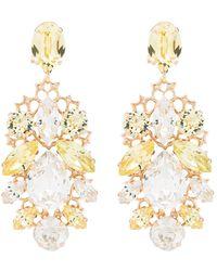 Anton Heunis Crystal Cluster Earrings - Yellow