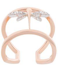 Anapsara Mini Dragonfly Ring - Metallic