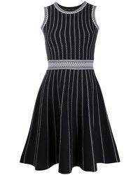 Paule Ka ストライプドレス - ブラック