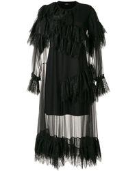 Goen.J ラッフル レイヤード ドレス - ブラック