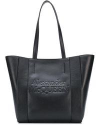 Alexander McQueen Сумка-тоут С Тисненым Логотипом - Черный