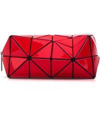 Bao Bao Issey Miyake Trousse à maquillage à design géométrique - Rouge