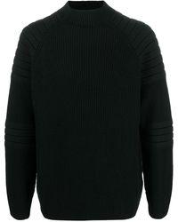Karl Lagerfeld Ribbed-knit High-neck Jumper - Black