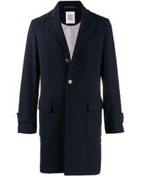 Eleventy Single-breasted Coat - Blue