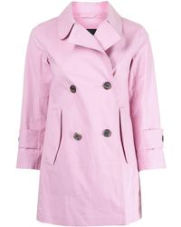 Louis Vuitton Pre-owned Double-breasted Trench Coat - Pink