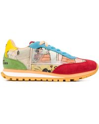 Marc Jacobs X Peanuts The Jogger Low-top Trainers - Orange