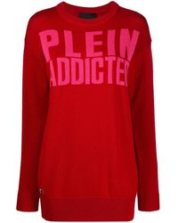 Philipp Plein - ロゴプリント ロングセーター - Lyst