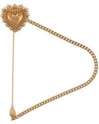 Dolce & Gabbana Herzbrosche mit Logo - Mettallic